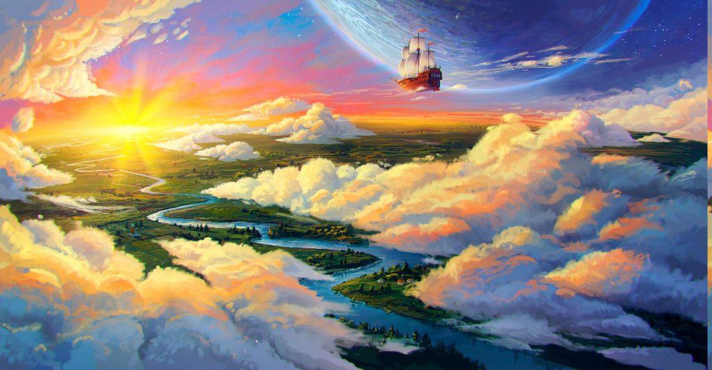 Небесный корабль на взлёте в Иномирье
