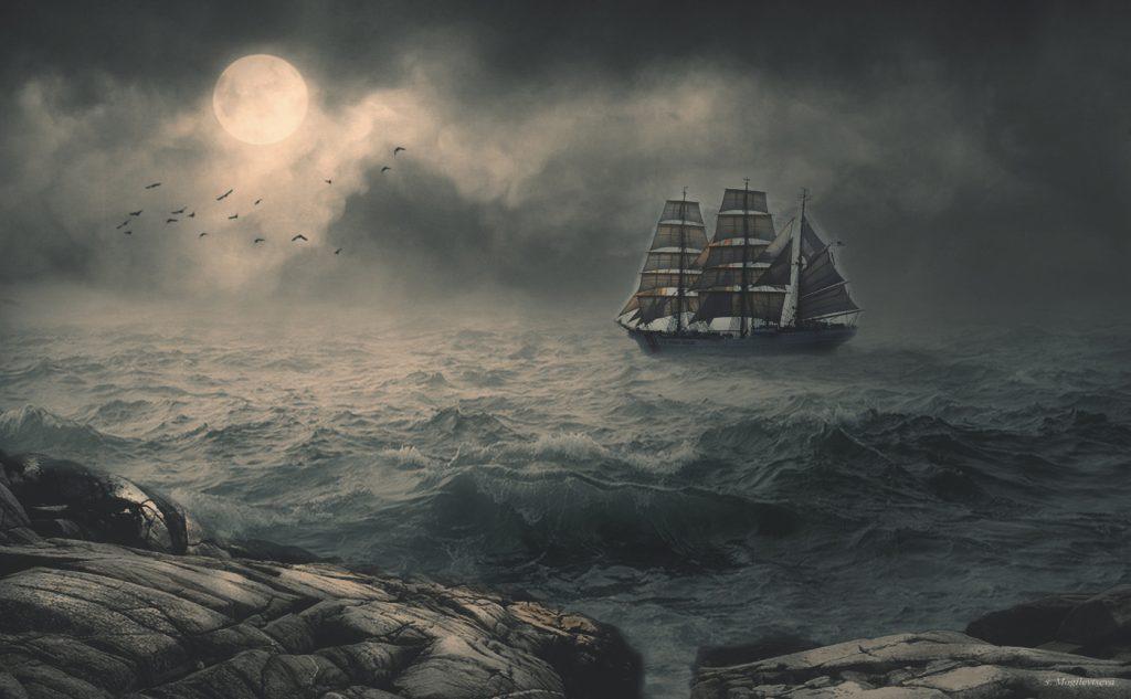 Корабль Рока юноши между Жизнью и Смертью.